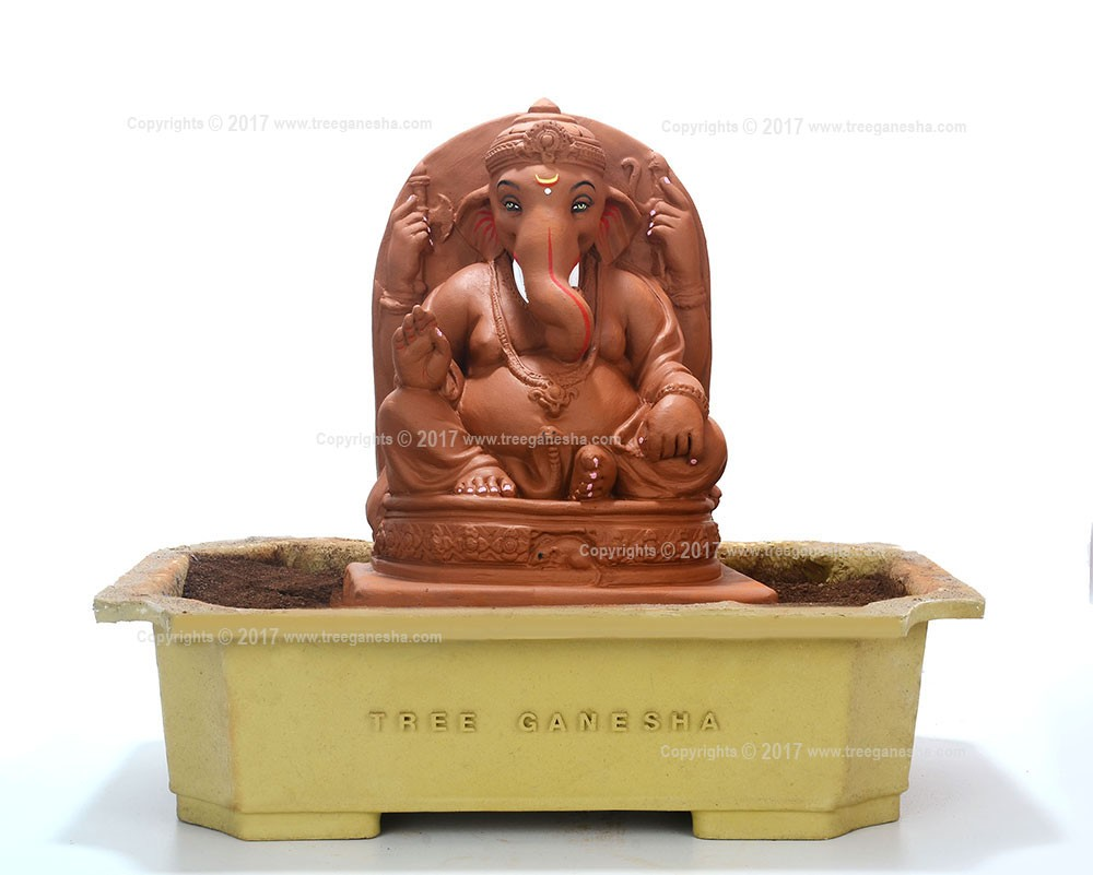 12inch Eco-Friendly Ganpati | Tree Ganesha (without modak)