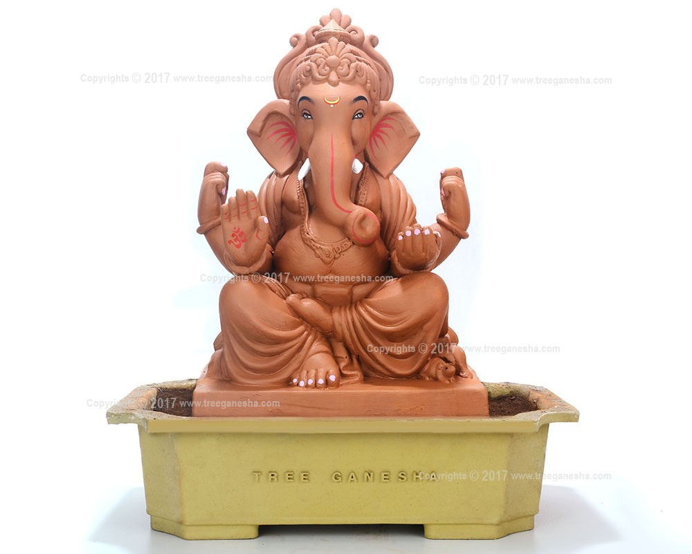 18inch Eco-Friendly Ganpati Murti | Tree Ganesha