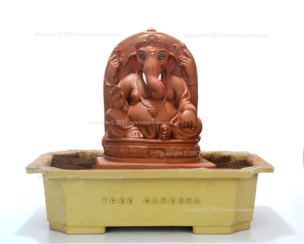 12inch Eco-Friendly Ganpati Murti | Tree Ganesha (without modak)