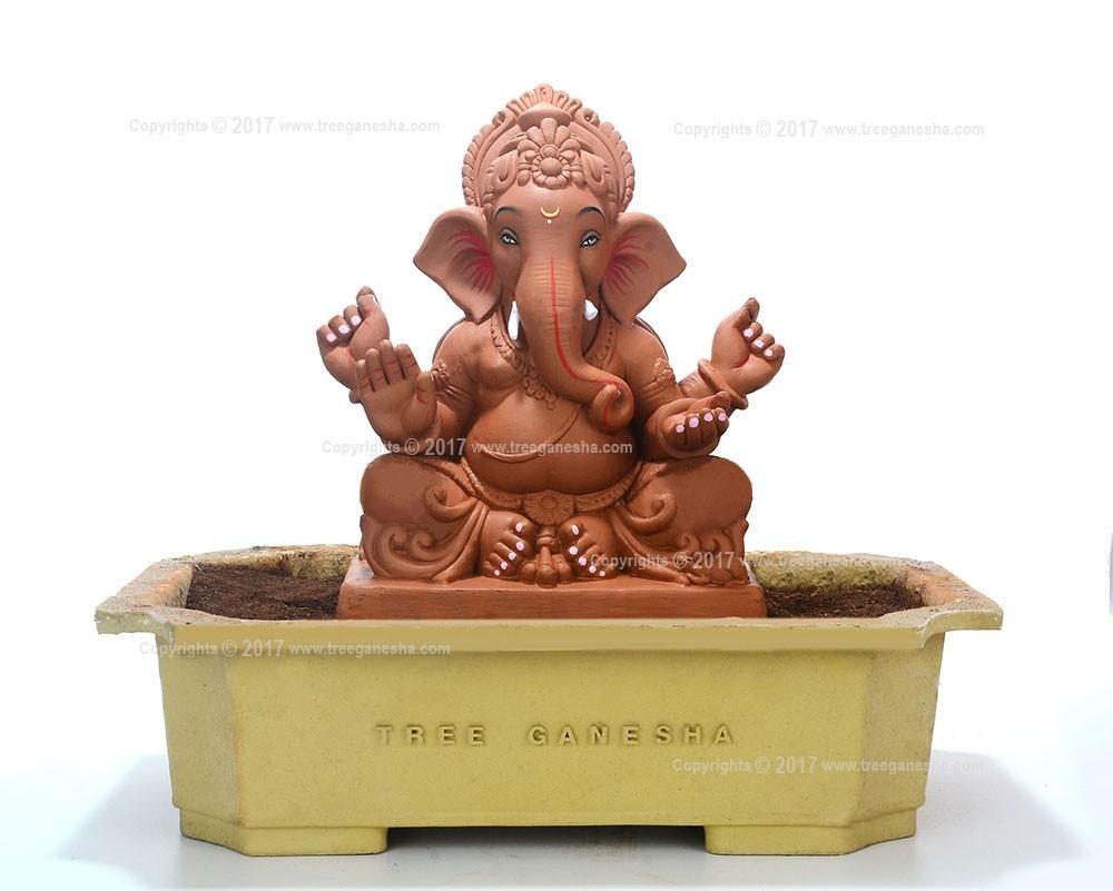 12inch Eco-Friendly Ganpati Murti| Tree Ganesha