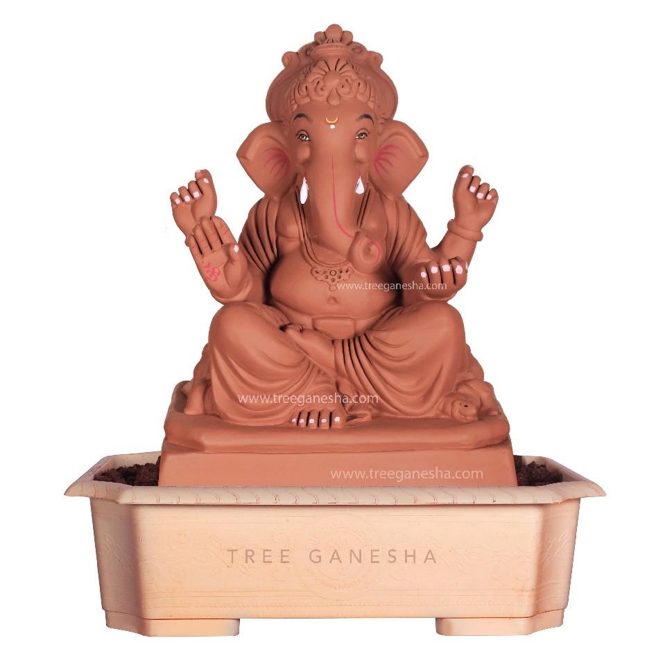 16.5inch Eco-Friendly Ganpati Murti | Tree Ganesha