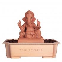 9inch Eco-Friendly Ganpati Murti | Tree Ganesha (Peshwai Ganpati)