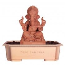 12inch Eco-Friendly Ganpati Murti| Tree Ganesha (Mayurasan Ganpati)