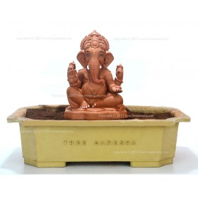 8inch Eco-Friendly Ganpati Murti | Tree Ganesha