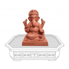 9inch Eco-Friendly Ganpati Murti | Tree Ganesha Shivrekar
