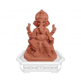 20inch Eco-Friendly Ganpati Murti | Tree Ganesha