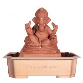12inch Eco-Friendly Ganpati Murti| Tree Ganesha (Double load Ganpati)