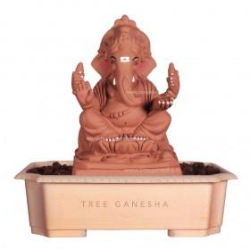 13.5inch Eco-Friendly Ganpati Murti | Tree Ganesha