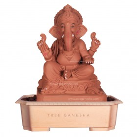 18inch Eco-Friendly Ganpati Murti | Tree Ganesha (Raja)