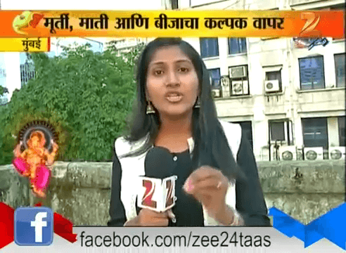 Tree Ganesha featured in Zee 24 Taas