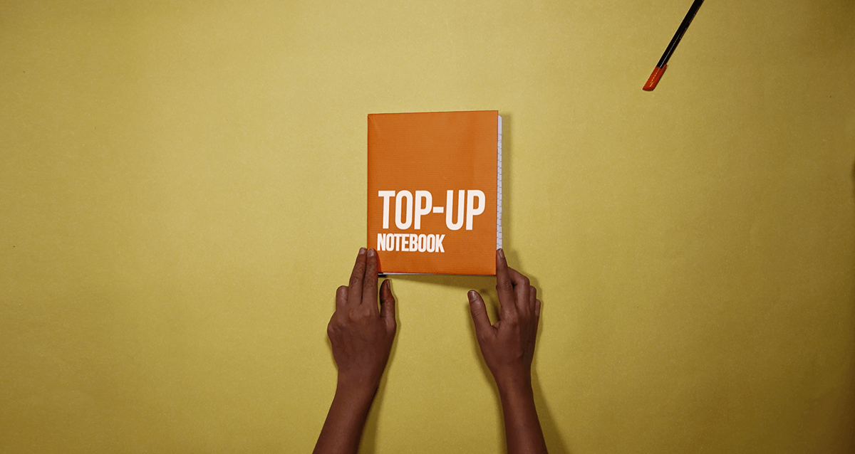 An Innovative concept by Dattadri Kothur to save papers with introducing Top up notebook