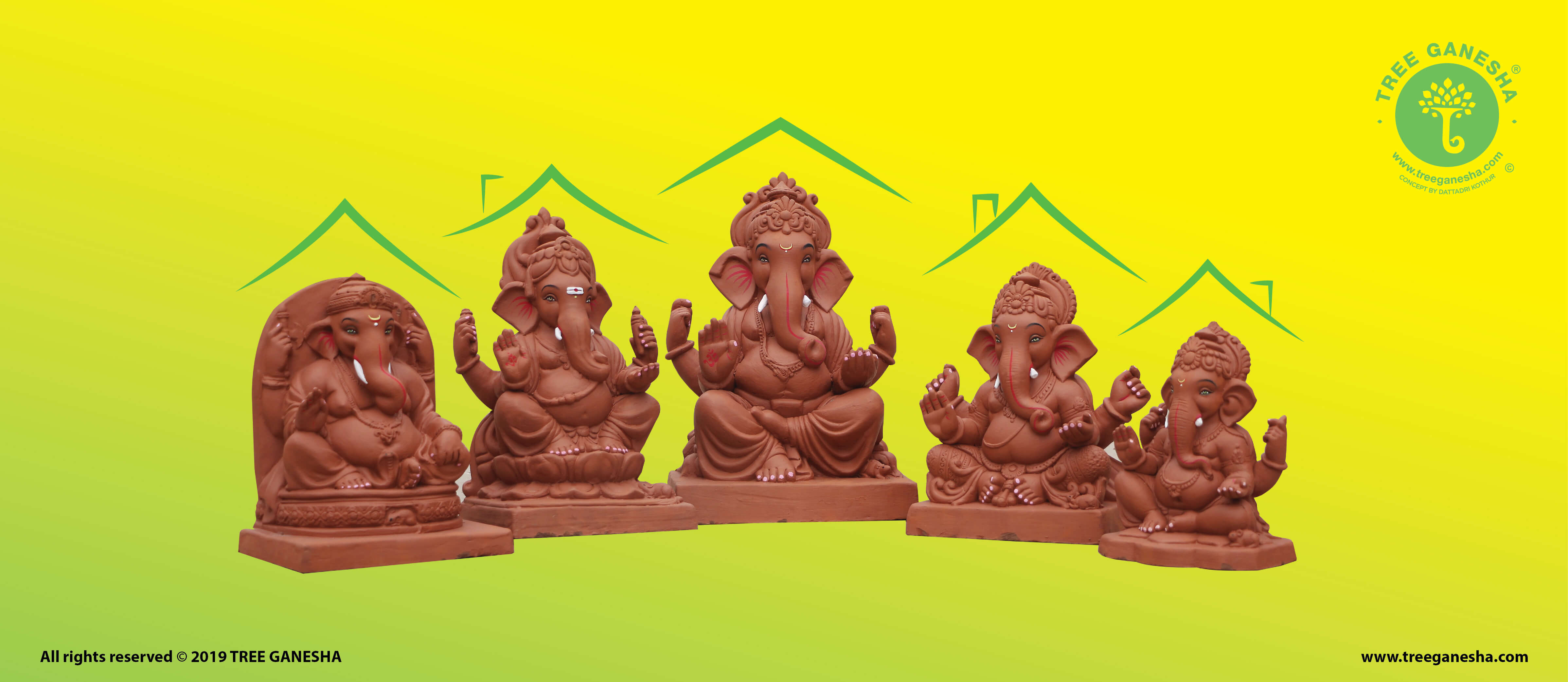 The vision of Tree Ganesha is to conserve the environment and celebrate ganesh festival eco-friendly by adopting Tree Ganesha in everyone's home